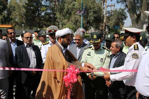 افتتاح ایستگاه پلیس راهور شماره 1با همکاری شهرداری بم