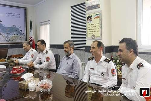 دیدار رییس سازمان اتش نشانی و خدمات ایمنی شهرداری رشت با رییس پلیس راهنمایی و رانندگی گیلان و رشت