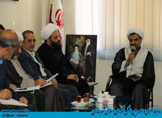 جلسه شورای سیاستگذاری ،پشتیبانی و هماهنگی فعالیت های مذهبی استان مازندران با حضور علیجان  شمشیربند رئیس شورای اسلامی شهر ساری