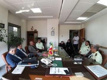 بازدید رئیس مرکز حراست از یگان انتظامی وزارت راه و شهرسازی