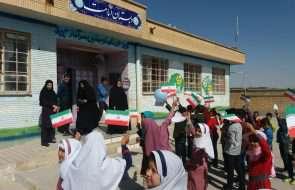 نواخته شدن زنگ آب در مدارس روستای تنگل مزار شهرستان باخرز
