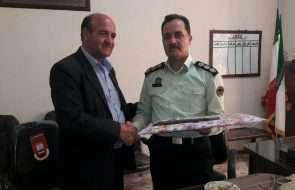 دیدار سرپرست امور آبفار خوشاب با فرماندهی انتظامی این شهرستان