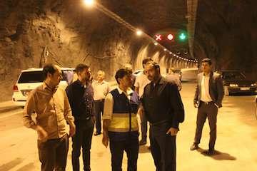 تونل قلاجه ایلام برای تردد زائران اربعین زیر بار ترافیک رفت