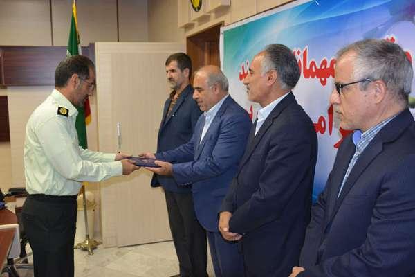 تقدیر از افسران ارشد اداره آگاهی استان کرمانشاه در شرکت برق منطقهای غرب