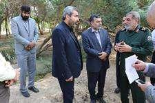 بازدید رییس شورای اسلامی کلانشهر اهواز از آخرین وضعیت باغ موزه دفاع مقدس