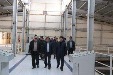 مدیر كل دیوان محاسبات استان از تصفیه خانه آب شرب اردبیل بازدید كرد