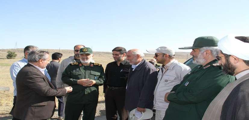 بازدید فرمانده سپاه پاسداران انقلاب اسلامی از عملیات احداث باند دوم اردبیل به مشگین شهر