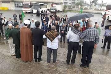 اعزام ۵۶  نفر از بسیجیان و کارکنان راه و شهرسازی گیلان برای شرکت در پیاده روی اربعین حسینی