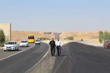 رفع گره ترافیکی منطقه گلان در محور ایلام- مهران با تکمیل و آسفالت واریانت این منطقه
