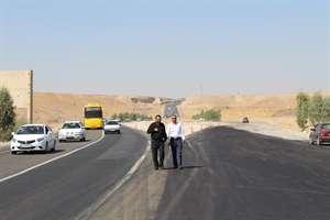 رفع گره ترافيكي منطقه گلان در محور ايلام- مهران با تكميل و  آسفالت واريانت اين منطقه