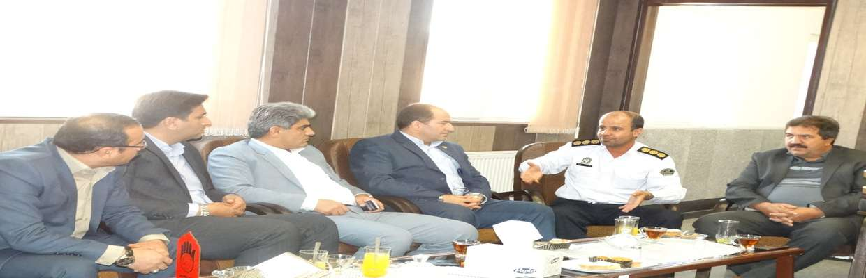 دیدار اعضای شورای اسلامی شهر سنندج با فرمانده پلیس راهور استان