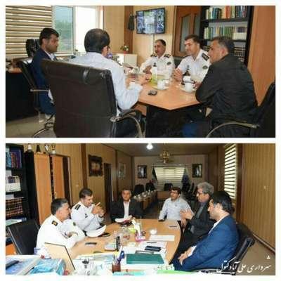 جلسه بررسی مسائل ترافیکی شهر علی آبادکتول با