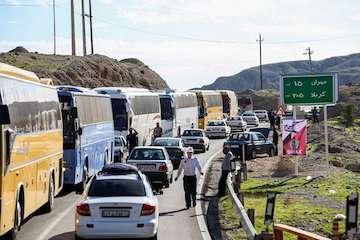 استقرار اکیپهای نظارتی راهداری و حمل و نقل جادهای مازندران در مرز مهران
