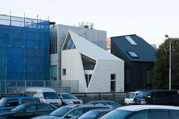 معماری خاص خانه چندضلعی در ژاپن