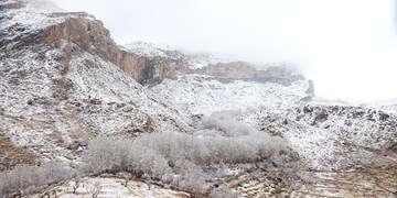 آسمانی آرام در نجف و کربلا/بارش برف در ارتفاعات البرز مرکزی