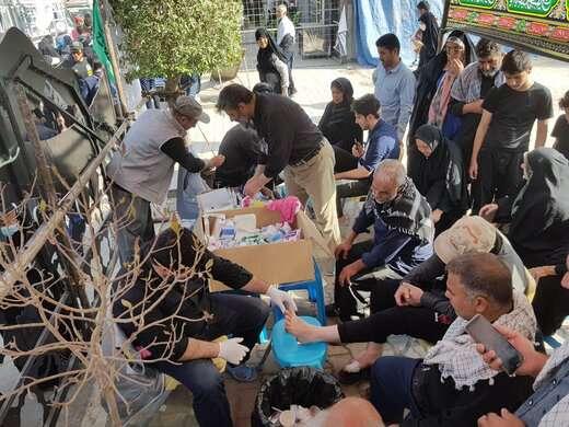 ارائه خدمات موکب جنت الحسین (ع) شهرداری تبریز به زائرین مراسم اربعین