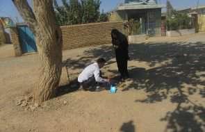 پایش مشترک آب شرب روستاهای جوین با حضور کارشناسان شبکه بهداشت و درمان
