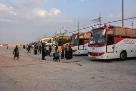 بکارگیری همه اتوبوسها برای بازگشت زائران+ جزییات