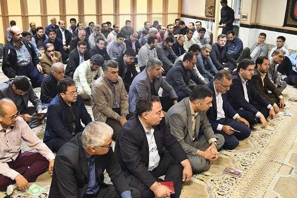 برگزاری مراسم سوگواری اربعین حسینی در آبفای آذربایجان غربی