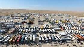 استقرار ۱۱ هزار دستگاه اتوبوس در مرزها