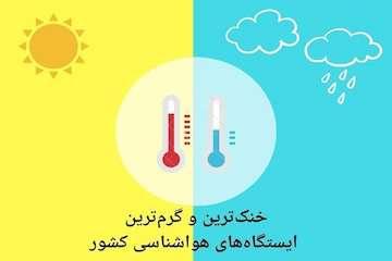 «میناب» و «کوسه» گرمترین و سردترین ایستگاههای کشور در ۲۴ ساعت گذشته
