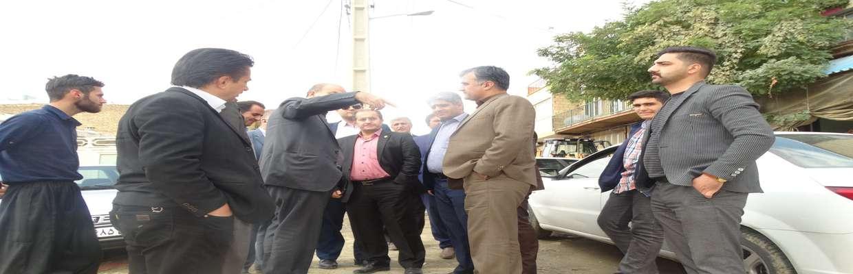 بازدیداعضای شورای اسلامی شهرسنندج از ناحیه منفصل شهری حسن آباد