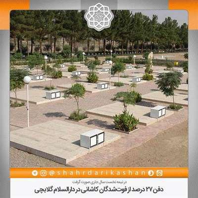دفن 27 درصد از فوتشدگان کاشانی در دارالسلام گلابچی
