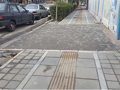 پروژه بهسازی و مناسبسازی پیادهراه چهارراه خیام تا پارک ملت به پایان رسید