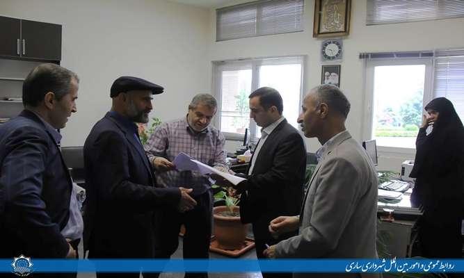 بازدید شهردار از دوایر شهرداری مرکزی ساری
