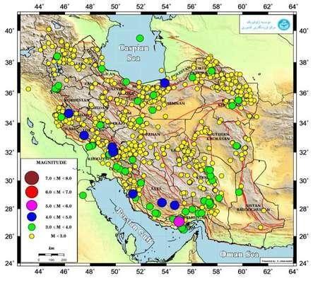 رخداد بیش از ۹۲۰ زلزله در مهر ماه ۹۸