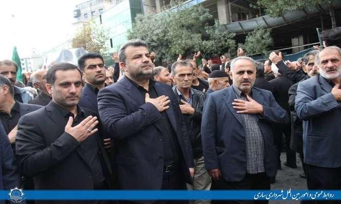 حضور شهردار ساری در جمع عزاداران مشهد مقدس