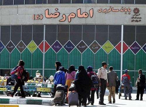 تردد بیش از 737 هزار زائر در پایانههای مسافربری مشهد