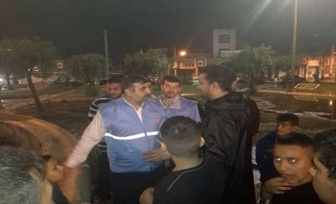 بازدید مدیر کل مدیریت بحران خوزستان از وضعیت آبگرفتگی سطح شهر اهواز