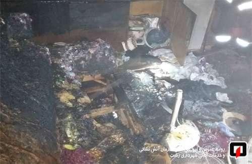 آتش سوزی منزل مسکونی در خیابان شهدا آتش نشانان را به محل حادثه کشاند/ آتش نشانی رشت