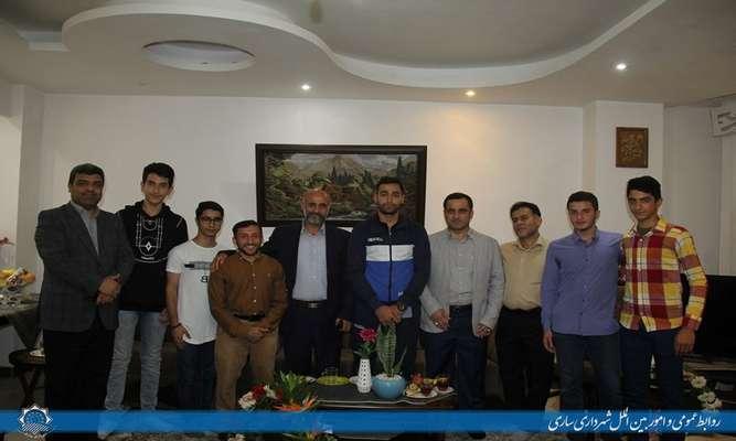 تقدیر عباس رجبی از نائب قهرمان مسابقات شمشیربازی آسیا