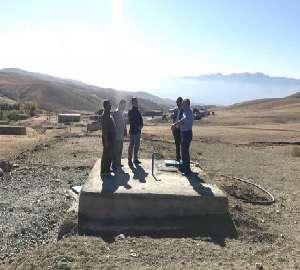 بهره برداری از مخزن ذخیره آب روستای قورقان شهرستان...