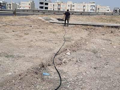 اراضی 11 هکتاری ورودی شهر تحت شبکه آبیاری قطره ای قرار می گیرد