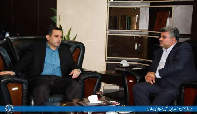 دیدار مدیرعامل شرکت گاز مازندران با شهردار ساری