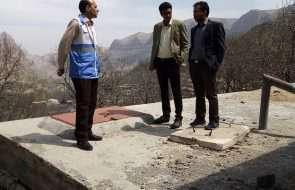 بازدید بهورزان شبکه بهداشت و درمان چناران از تأسیسات کلرزنی آب شرب