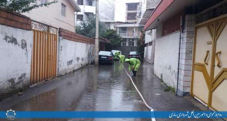 اقدامات ستاد مدیریت بحران در مناطق سه گانه شهرداري ساري