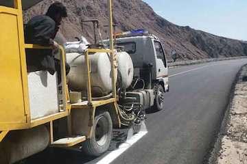 خط کشی ۹۳۵ کیلومتر از محورهای مواصلاتی استان اردبیل