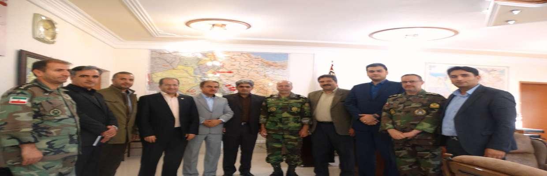 دیدار اعضای شورای اسلامی شهرسنندج با فرمانده لشکر28پیاده کردستان