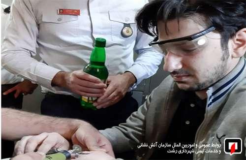 رها سازی حلقه انگشتری گیر کرده در انگشت شهروند 27 ساله در رشت /آتش نشانی رشت