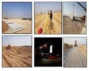 اتمام پروژه نصب دیوارهای پیش ساخته موکب وزارت نیرودر مرز چذابه توسط نیروگاه رامین