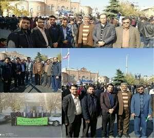 حضور گسترده پرسنل شرکت آب و فاضلاب روستایی آذربایج...