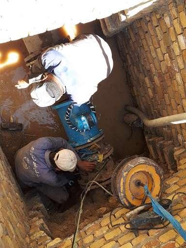 تعويض سه دستگاه كنتور  معيوب مخازن آب شهر مهاجران