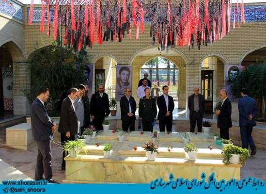 بازدید رئیس شورای اسلامی شهر و شهردار ساری از روند احداث پارک موزه دفاع مقدس