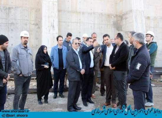بازدید رئیس شورای اسلامی شهر و شهردار ساری از پروژه نیروگاه زباله سوز