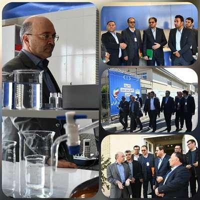 بازدید مدیرعامل شرکت مهندسی آب و فاضلاب کشور از روند سامانه تصفیه خانه آب مهاباد
