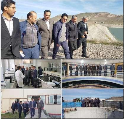 مدیرعامل شرکت آب منطقه ای اردبیل از تاسیسات و تصفیه خانه آب...